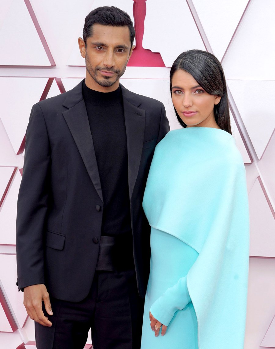 Riz Ahmed Wife Fatima Farheen Mirza Make Red Carpet Debut Oscars 2021
