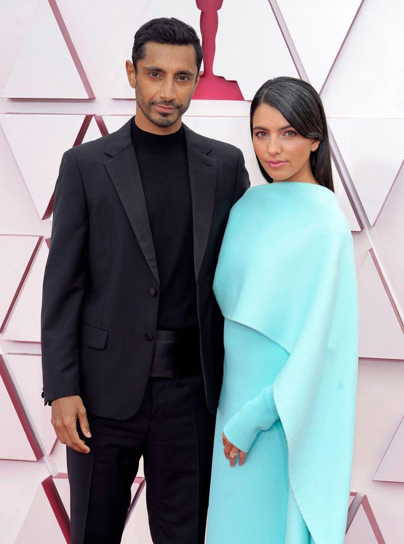 Riz Ahmed and Fatima Farheen Mirza Couples Dazzle at Oscars 2021