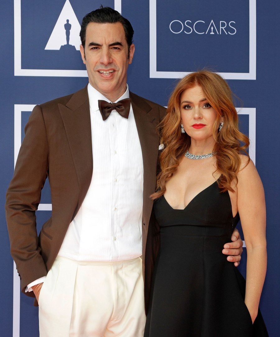 Sacha Baron Cohen and Isla Fisher Dazzle at Oscars 2021