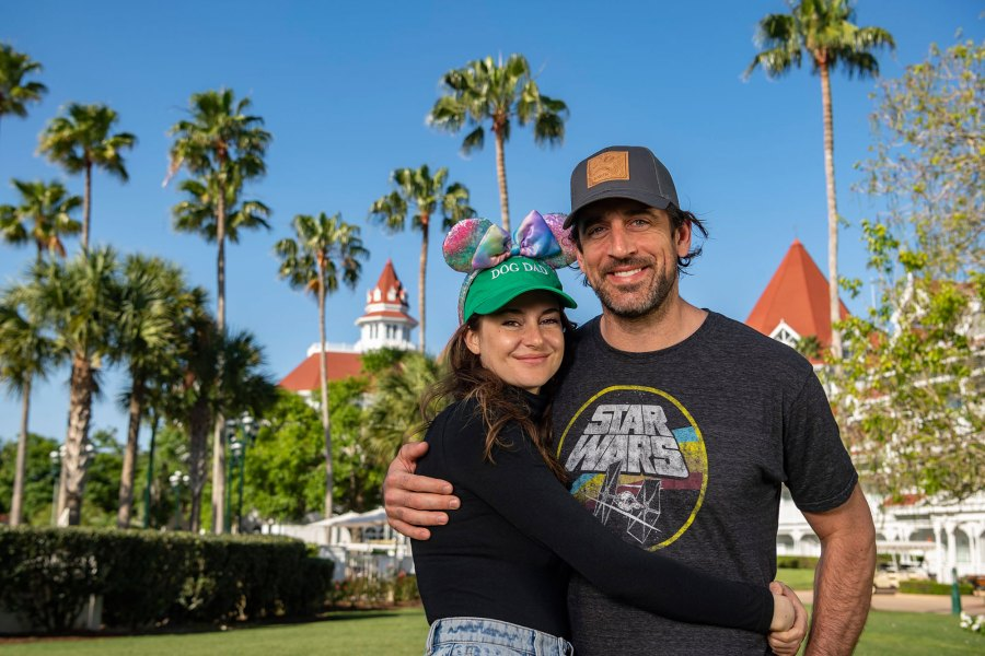 Shailene Woodley and Aaron Rodgers Pose for Adorable Photos at Disney World 5