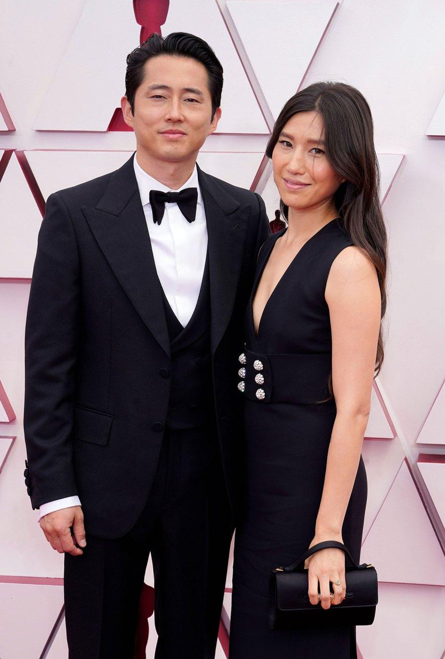 Steven Yeun and Joana Pak Couples Dazzle at Oscars 2021