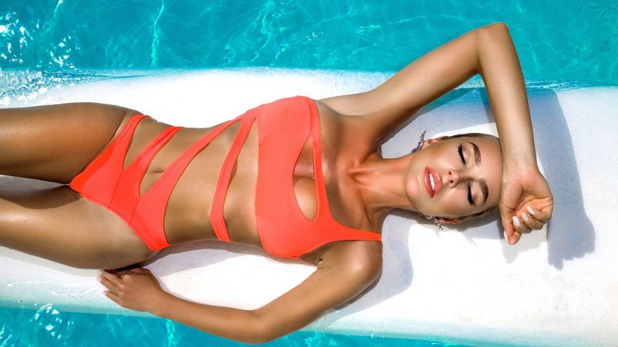 Strappy-Wrap-Style-Bathing-Suit-Stock-Photo