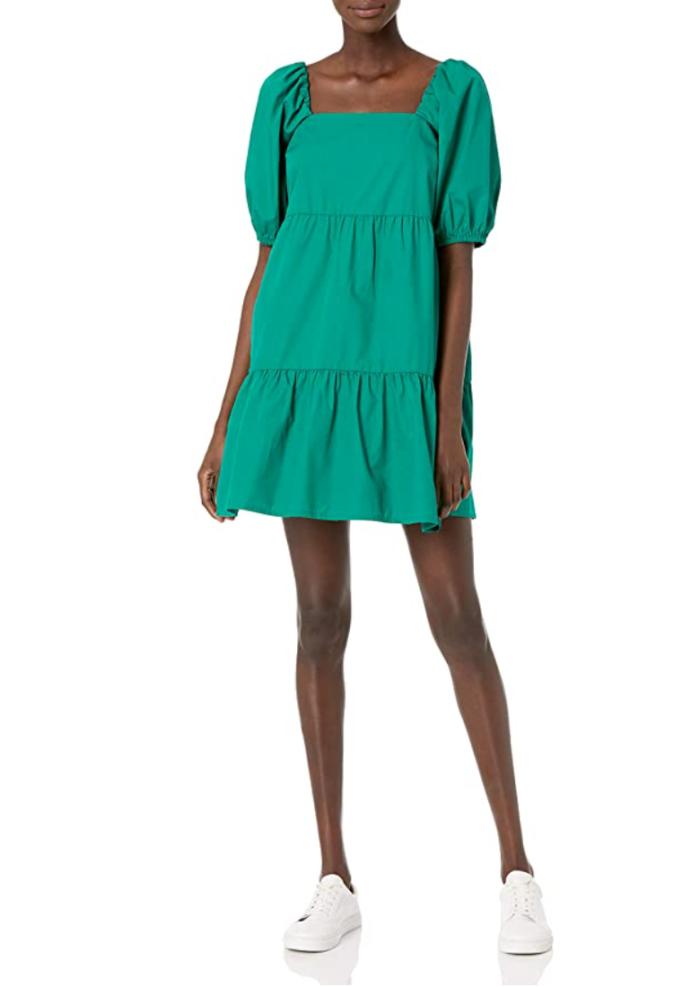 The Drop Women's @graceatwood Puff-Sleeve Mini Dress
