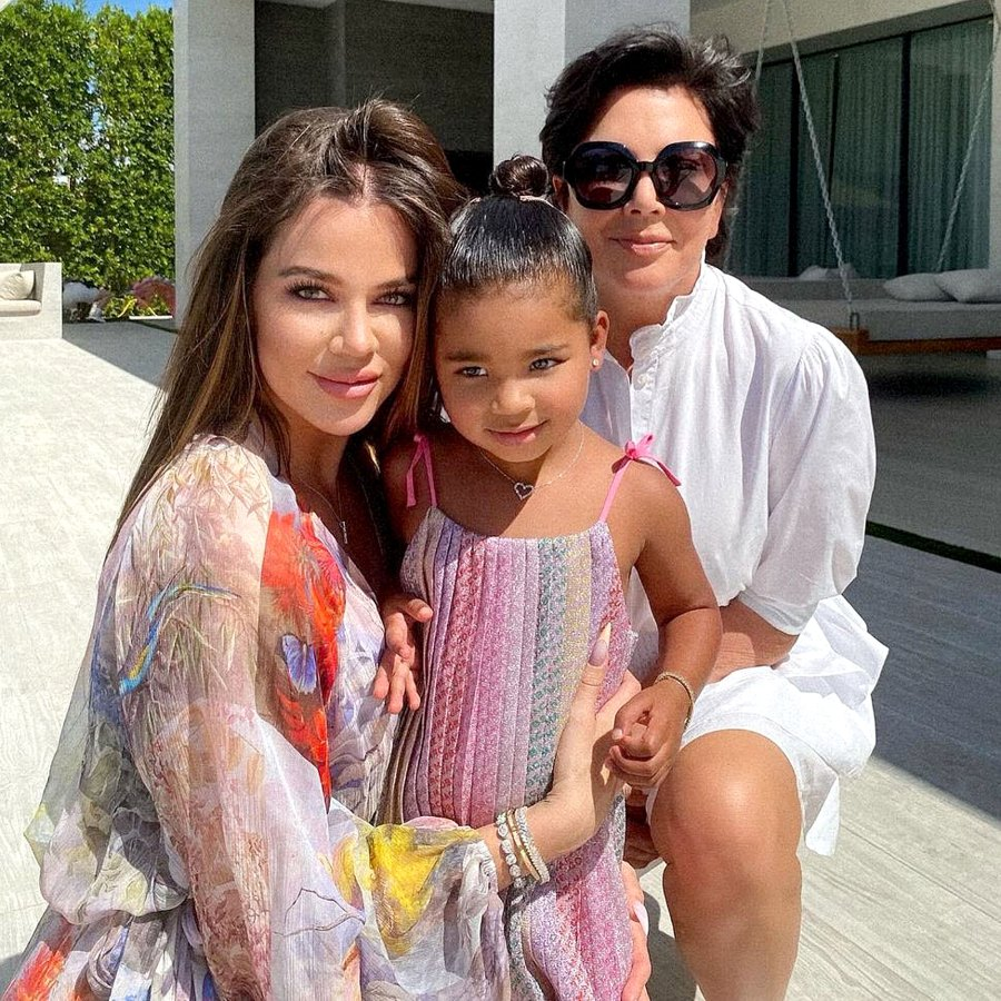 True Thompson 3 See How The Kardashian Jenner Family Celebrated