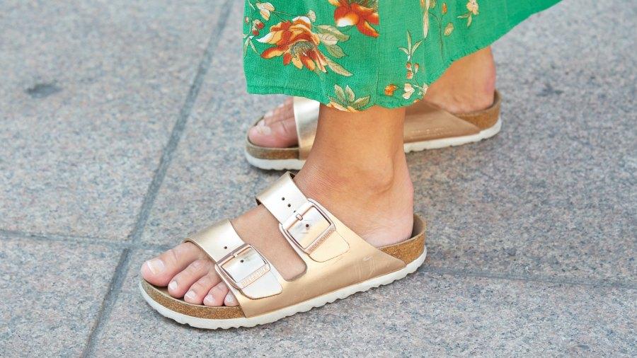 Woman-Wearing-Birkenstock-Sandals-Stock-Photo