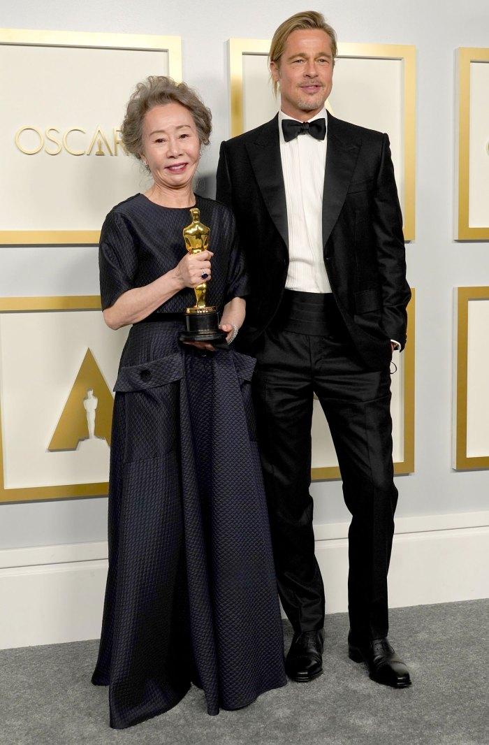 Oscars 2021 Best Moments: Yuh-Jung Youn Flirts With Brad Pitt, More