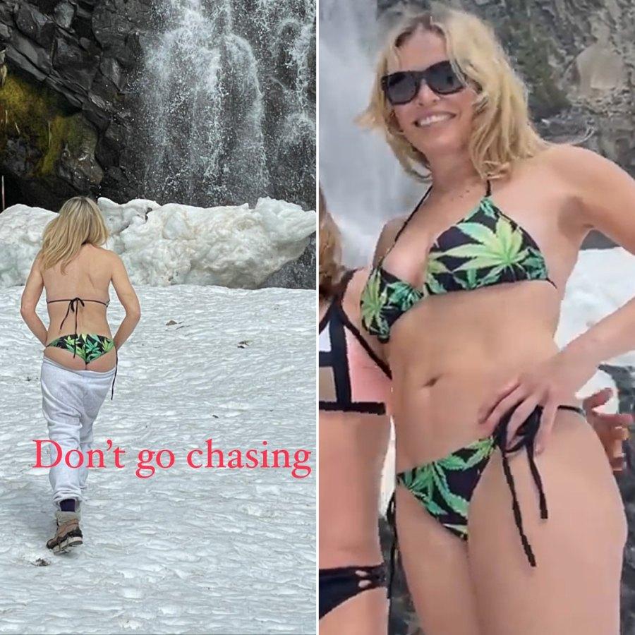 See Chelsea Handler Brave the Snow in Cannabis-Print Bikini: Pic