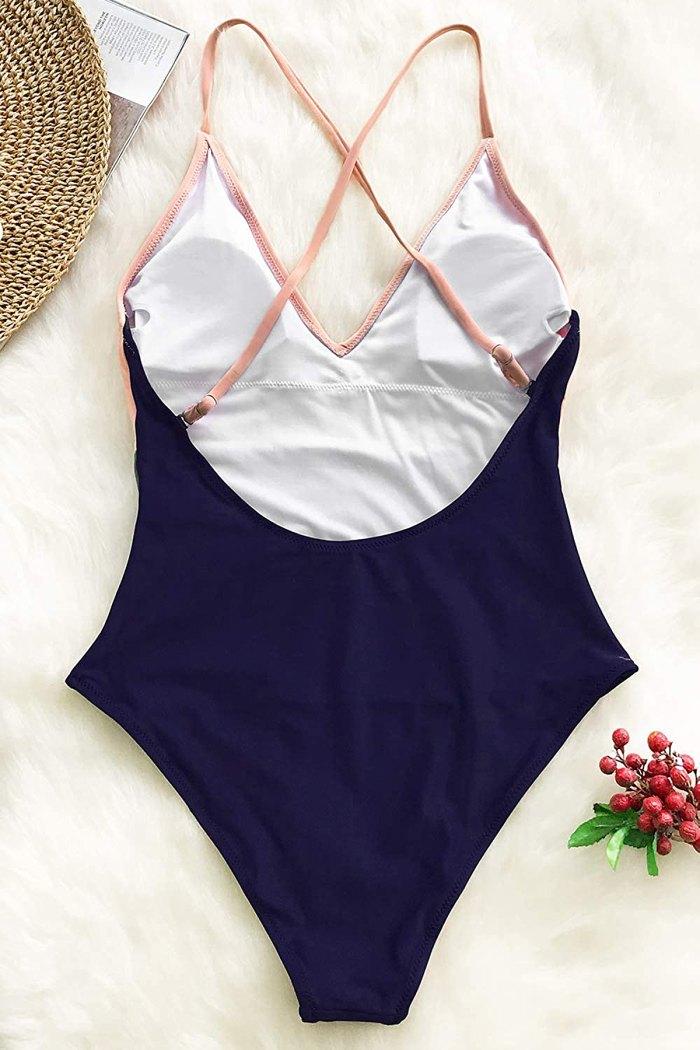 CUPSHE One-Piece Color-Block Swimsuit
