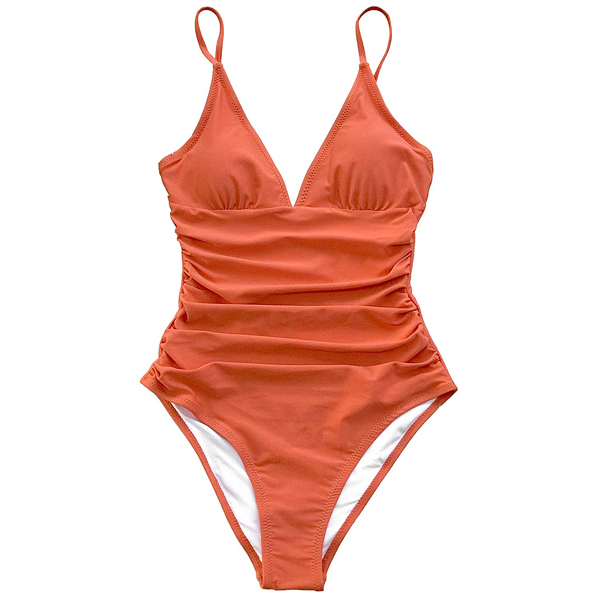 CUPSHE One-Piece Tummy Control V-Neck Bathing Suit