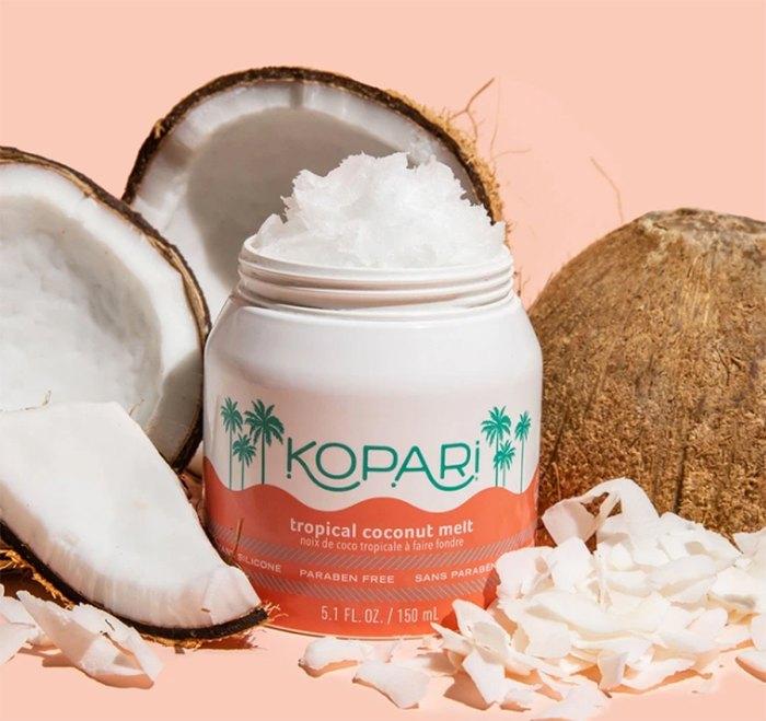 Derretimiento de coco tropical orgánico