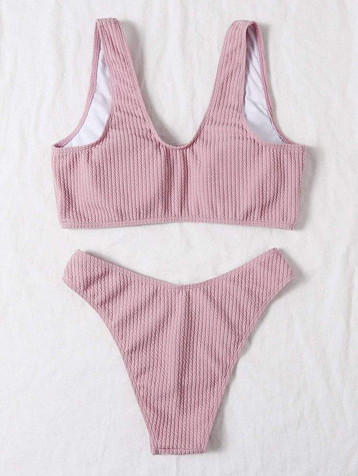Traje de baño de 2 piezas de bikini con cuello redondo de SOLY HUX