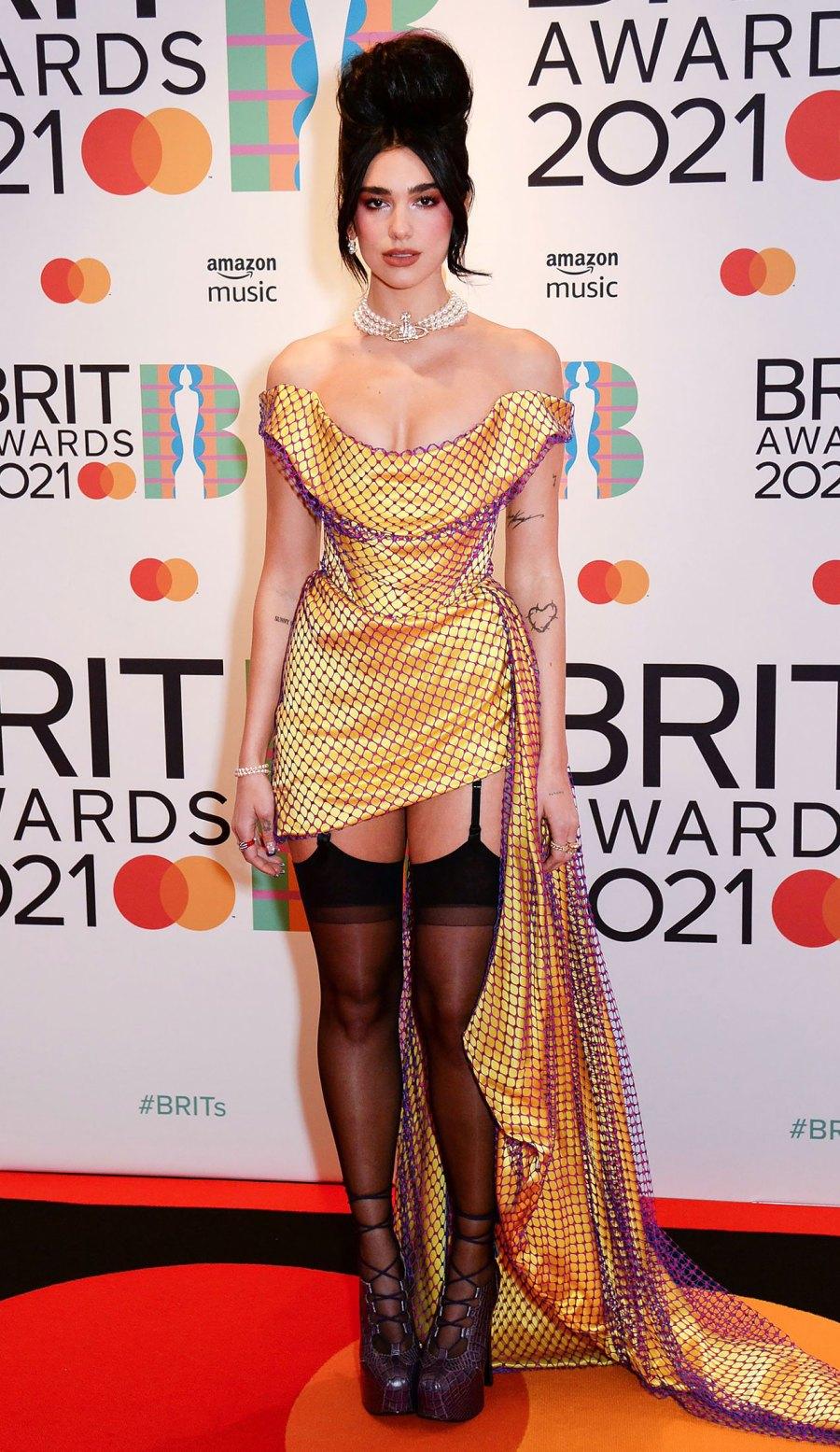2021 BRIT Awards Red Carpet Arrivals - Dua Lipa