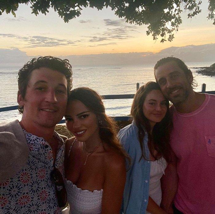 La escapada de Aaron Rodgers y Shailene a Maui con amigos