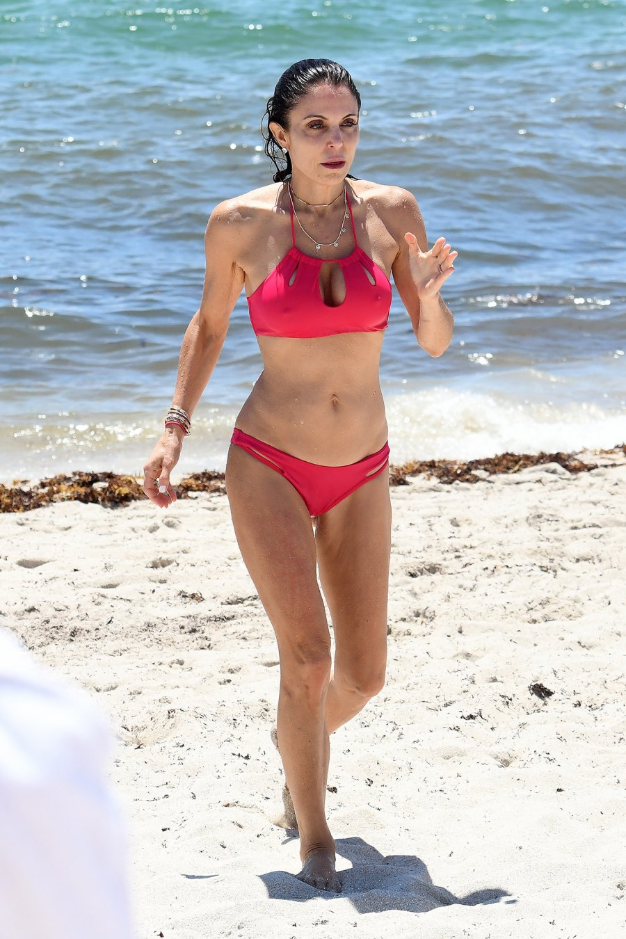 Bethenny Frankel Shows Off Fit Body in Hot Pink Cut-Out Bikini