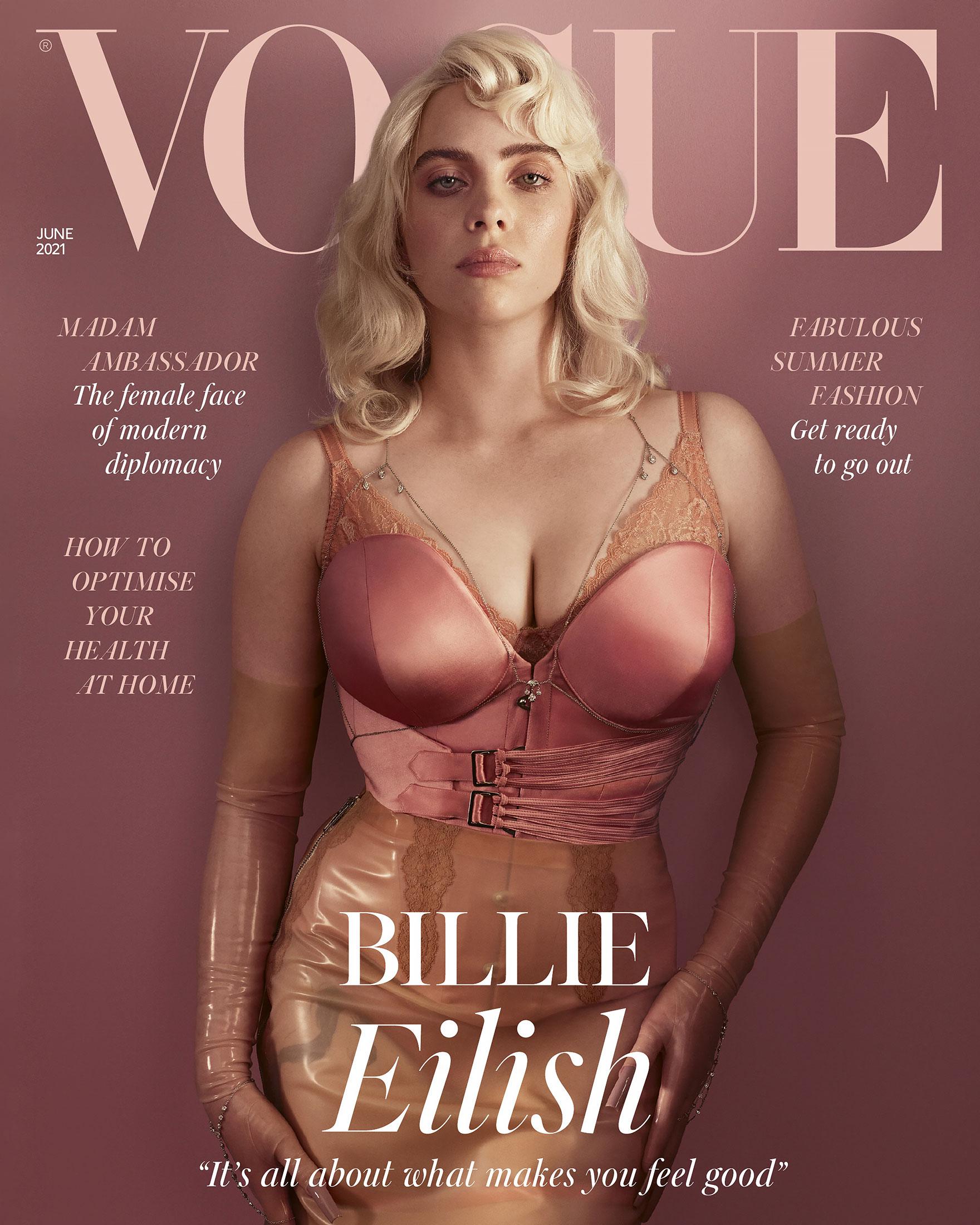 Billie Eilish Wears $81,775 Worth of Diamonds on British 'Vogue' Cover
