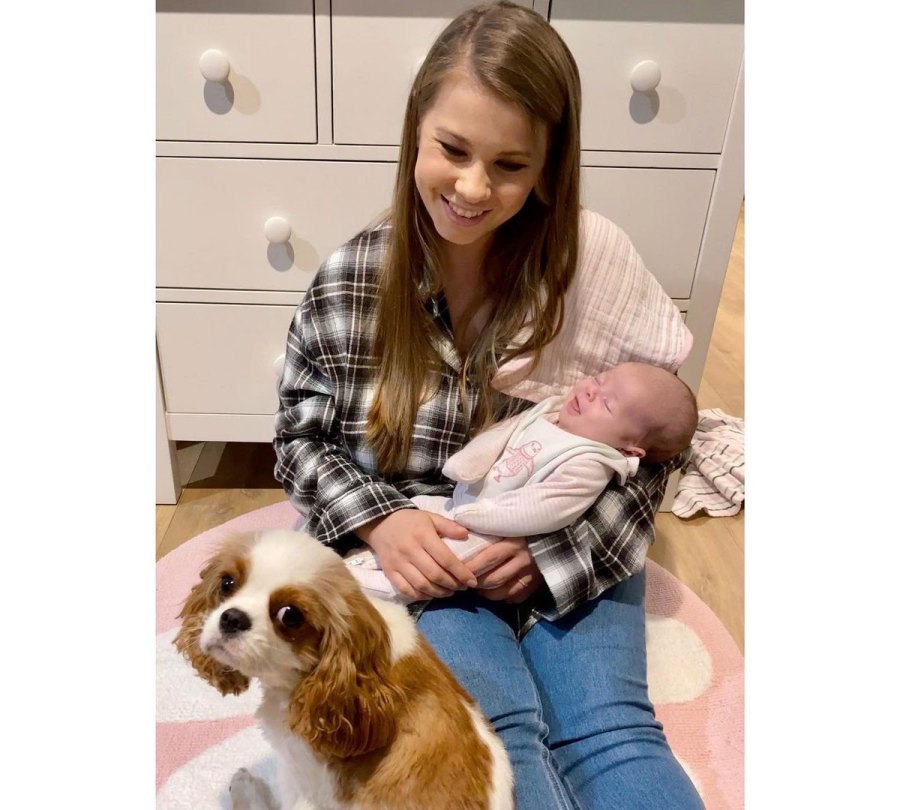 Bindi Irwin Daughter Grace Meeting Animals Dog