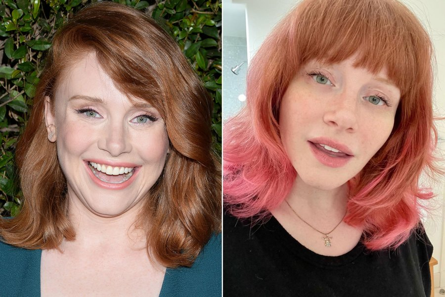 Bryce Dallas Howard's Dip-Dyed Pink Hair Is the Ultimate Summer Inspo