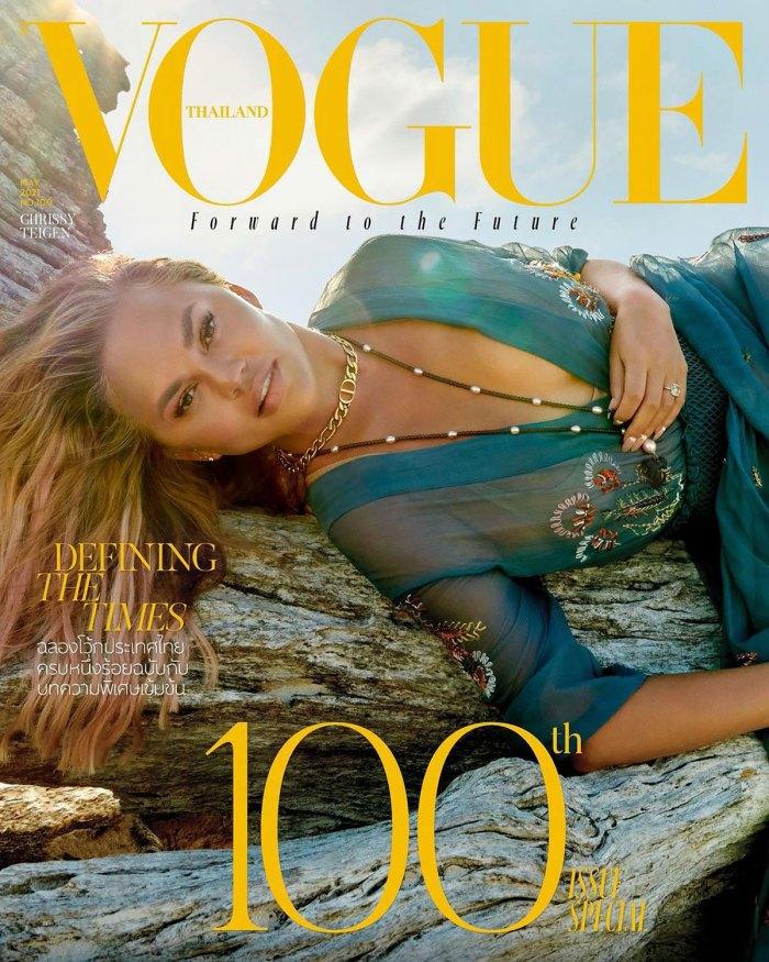 DIY! Chrissy Teigen Does Her Own Makeup for 'Vogue Thailand' Cover