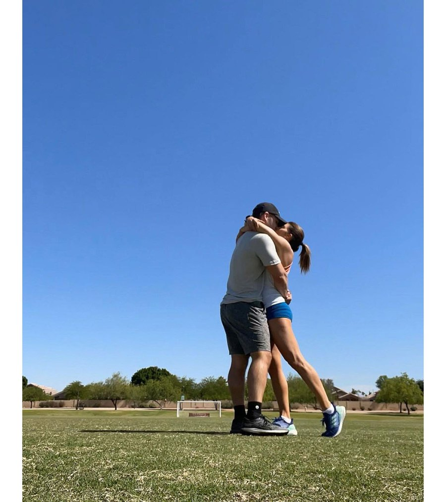 Danica Patrick And Carter Comstock Kiss During Workout 3