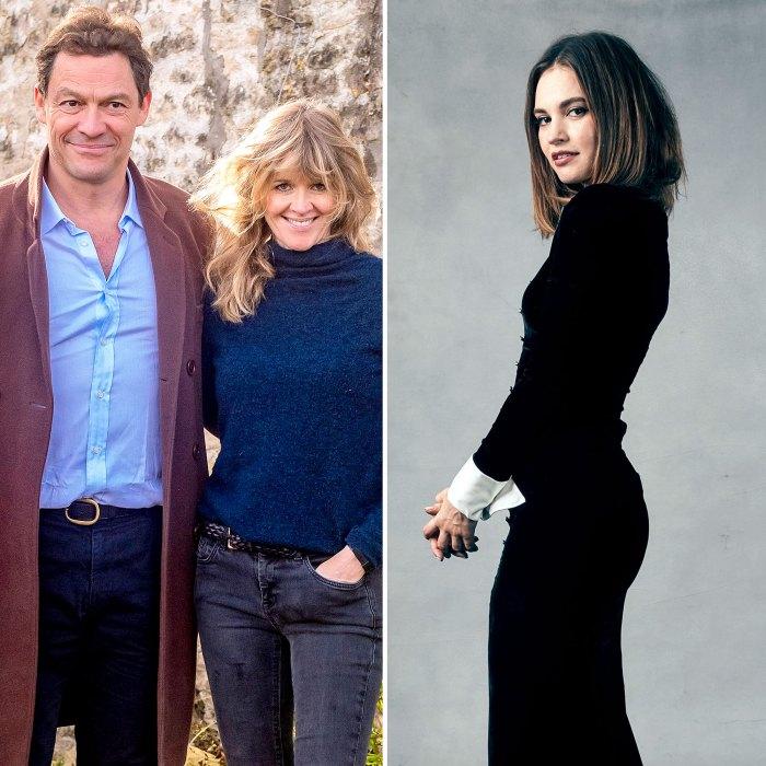 La esposa de Dominic Wests, Catherine, fue totalmente devota después del drama de Lily James
