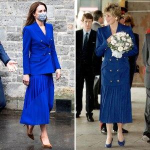 Duchess Kate Channels Princess Diana Nearly Identical All Blue Outfit Pic