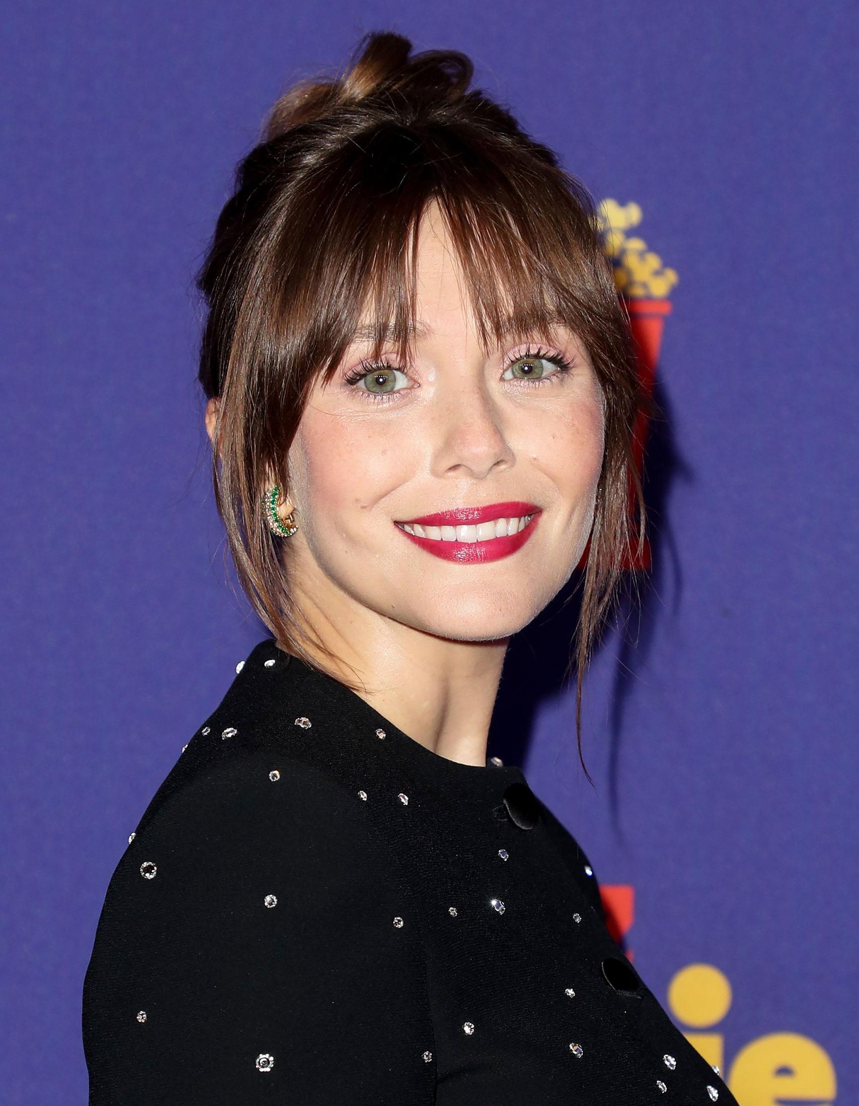 How Elizabeth Olsen Got Her Gorgeous Brunette 'Do at the 2021 MTV Awards