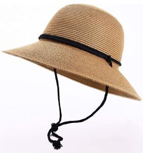 FURTALK Store Womens Wide Brim Sun Hat with Wind Lanyard UPF