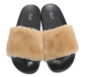 H2K Women's Fluff Furry Ultra Soft Fur Slides Slippers