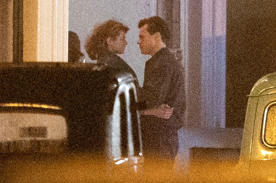 Harry Styles and The Crown Emma Corrin Kiss Passionately on the My Policeman Set 3