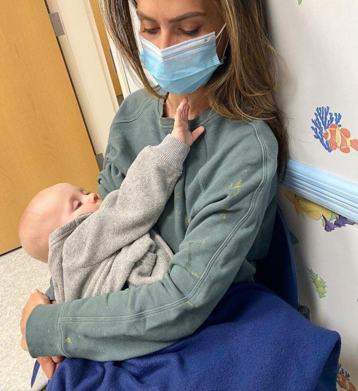 Hilaria Baldwin lleva a su hijo Eduardo al hospital en 'uno de esos horribles momentos que un padre teme'