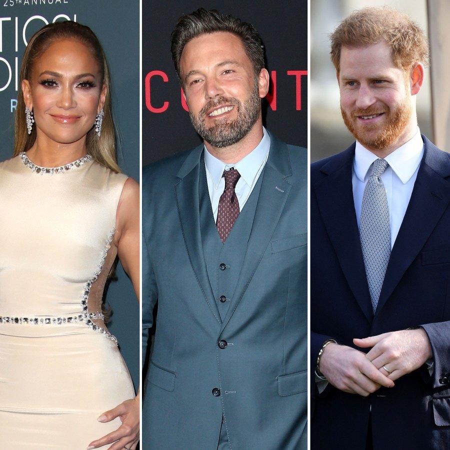 Jennifer Lopez Ben Affleck Prince Harry Hot Hollywood