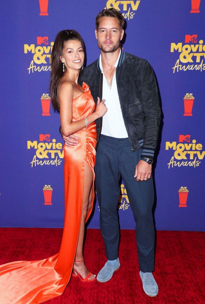 Justin Hartley y Sofia Pernas debutan en la alfombra roja en los premios MTV Movie & TV Awards
