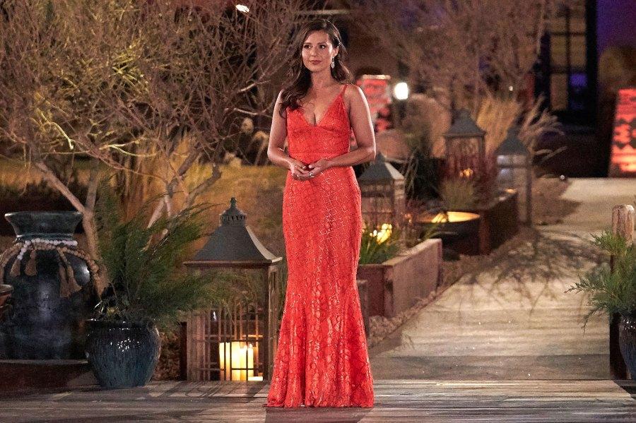 Katie Thurston Bachelorette Orange Gown