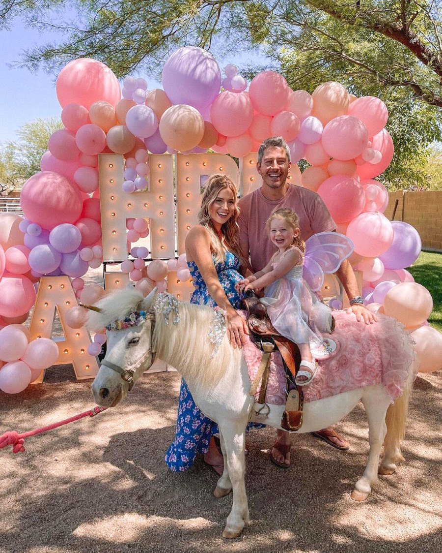 Pregnant Lauren Burnham Arie Luyendyk Jr Celebrate Daughter Alessis 2nd Birthday With Butterfly Princess Party