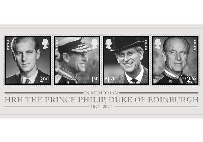 Príncipe Felipe honrado con sellos postales especiales después de su funeral