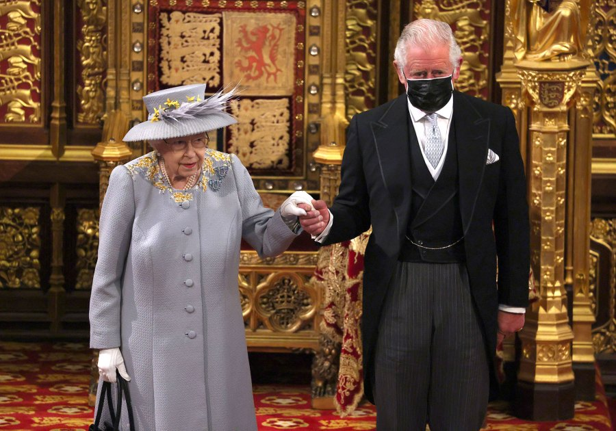 Queen Elizabeth II Makes 1st Official Outing Since Prince Philip Funeral to Open Parliament 2