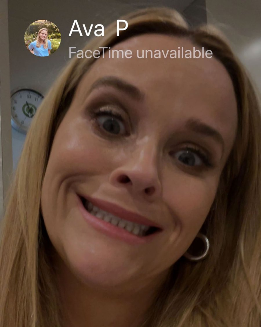 LOL! Reese Witherspoon Calls Out Daughter Ava, 21, for Missing FaceTime Call