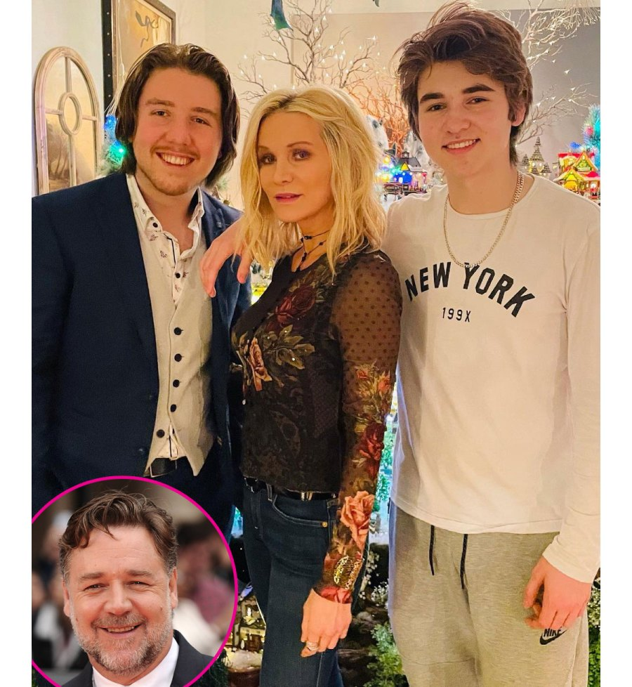 Russell Crowe Ex-Wife Danielle Spencer Shares Rare Photo of Their Teenage Sons Look A Like