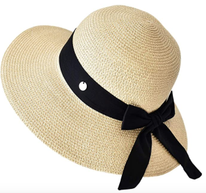 SOMALER Womens Straw Sun Hats Wide Brim Foldable Beach Hats UV UPF 50+