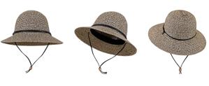 Simplicity Women's Wide Brim Straw Sun Hat with Lanyard UPF