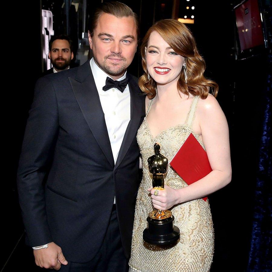 Stars and Their Celebrity Crushes Emma Stone Leonardo DiCaprio