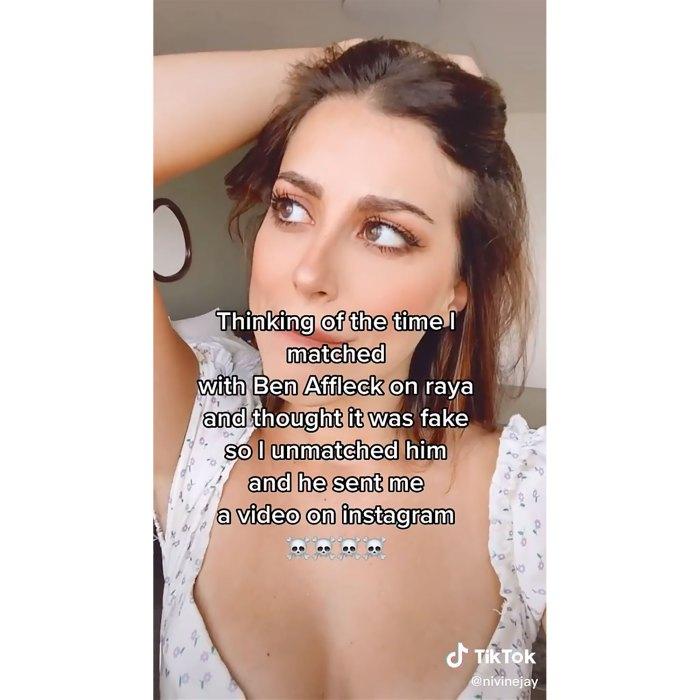 El usuario de TikTok Ben Affleck me envió un video después de que lo rechazara la aplicación de citas