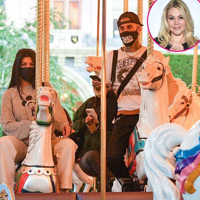 Travis Barker Kourtney Kardashian Go Disneyland en medio del drama de Shanna