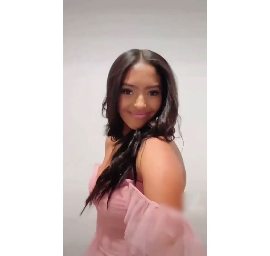 Vanessa Bryant Daughter Natalia Poses for Prom Pictures in Pink Dress 3