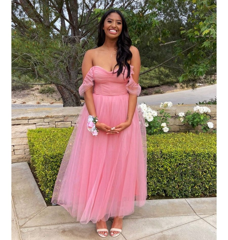 Vanessa Bryant Daughter Natalia Poses for Prom Pictures in Pink Dress