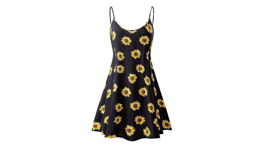 MSBASIC Sleeveless Adjustable Strappy Summer Beach Swing Dress