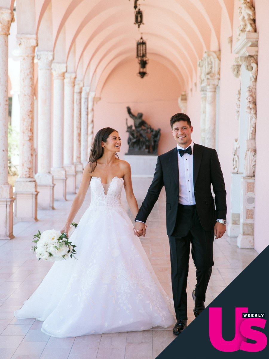 Bachelor's Caila Quinn Marries Nick Burrello in Waterfront Ceremony: See the Photos