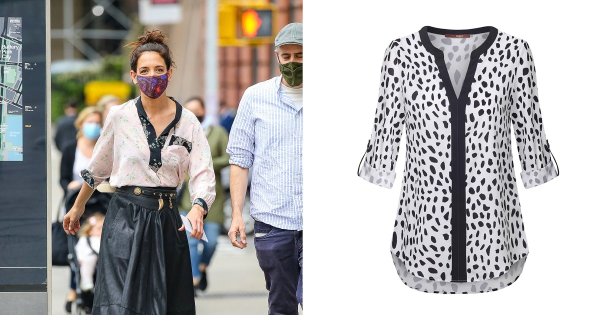 Hit the City Like Katie Holmes in Your Own 2-Tone Blouse.jpg