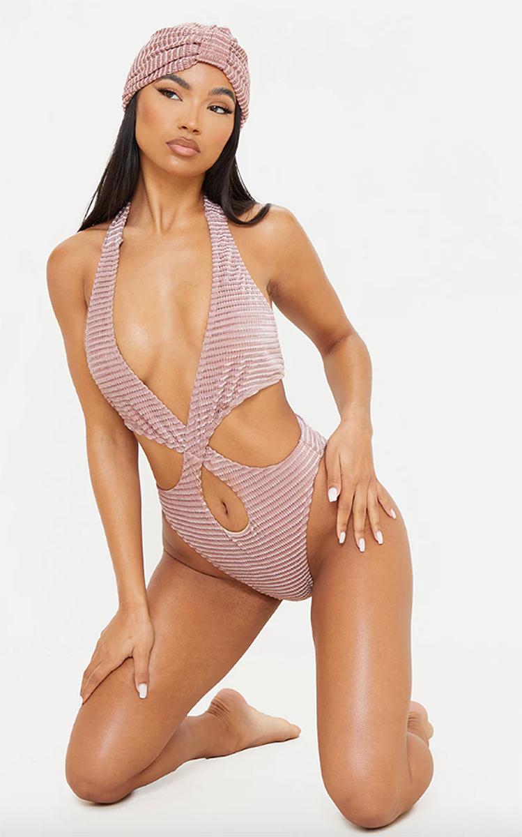 prettylittlething-pink-velvet-one-piece-swimsuit
