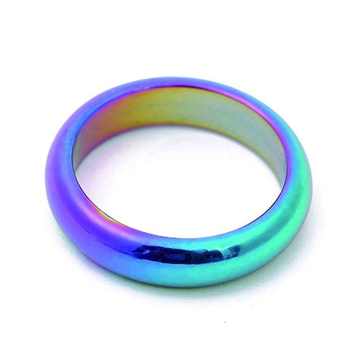 anillo de hematita del arco iris del chakra raíz